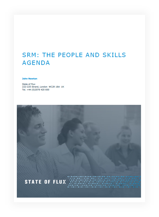 SRM: The People and Skills Agenda - white paper